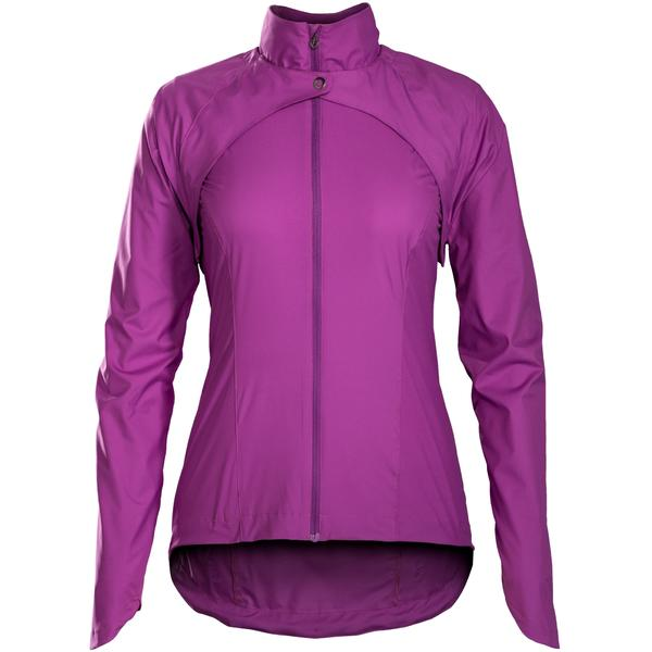Bontrager Vella Convertible Windshell Women's Jacket Color: Purple Lotus