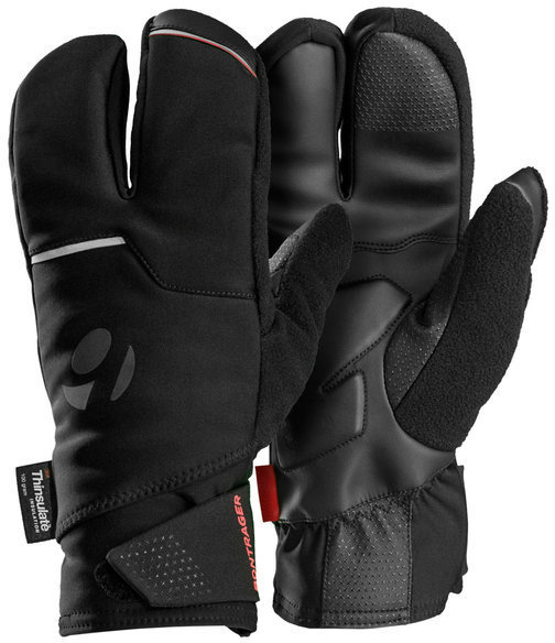 Bontrager Velocis S2 Softshell Split Finger Gloves Color: Black