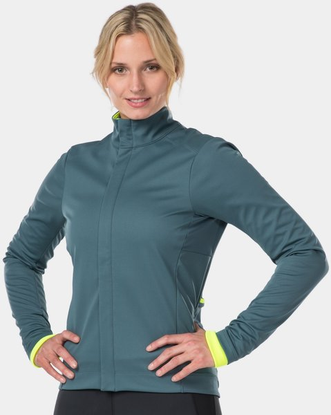 Bontrager Velocis Women's Subzero Softshell Cycling Jacket Color: Battleship Blue