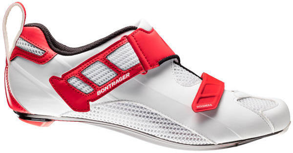 Bontrager Woomera Triathlon Shoe Color: White/Red