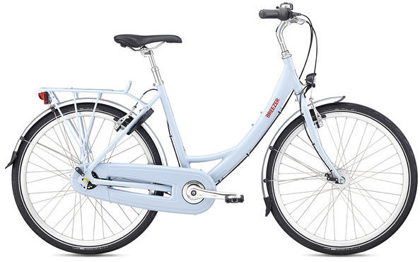Breezer Uptown 8 LS Color: Light Blue/Red
