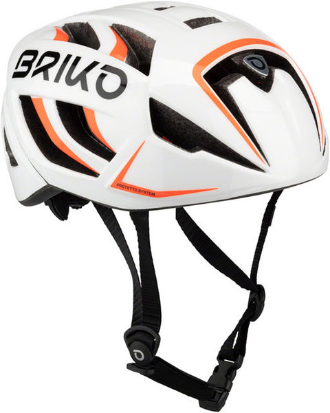 Briko Ventus Fluid Helmet Color: White/Orange Fluo