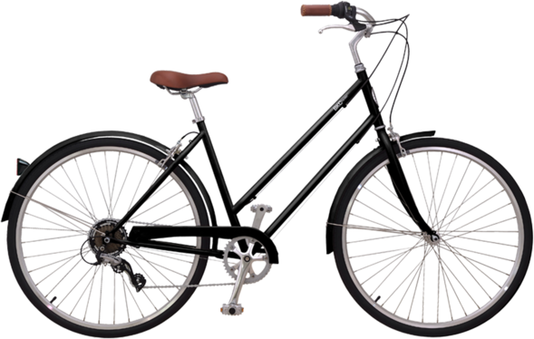 Brooklyn Bicycle Co. Franklin 7 Color: Gloss Black