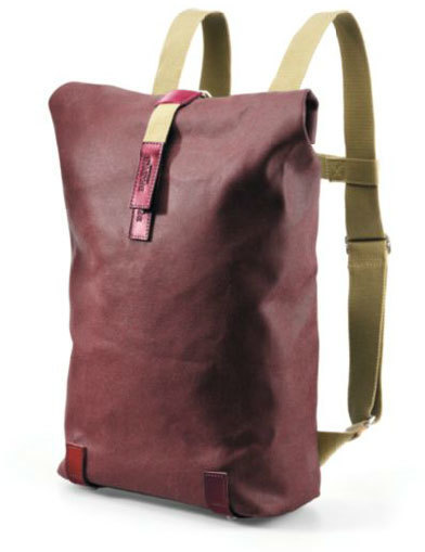 Brooks Pickwick Small Backpack Color: Chianti/Maroon