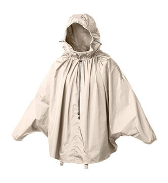 Brooks Cambridge Rain Cape Color: Sand