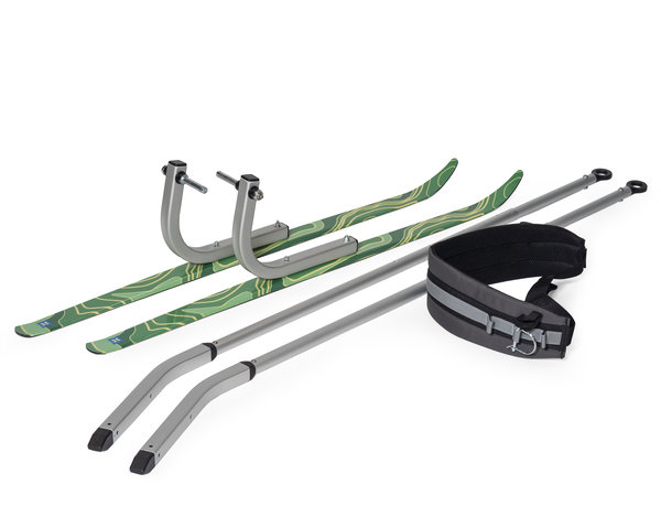 Burley We! Ski Kit Color: Black/Silver