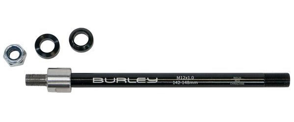Burley Thru Axle Adapter Color | Size | Thread Pitch: Black | 142/148mm x 12mm | 12 x 1.0mm