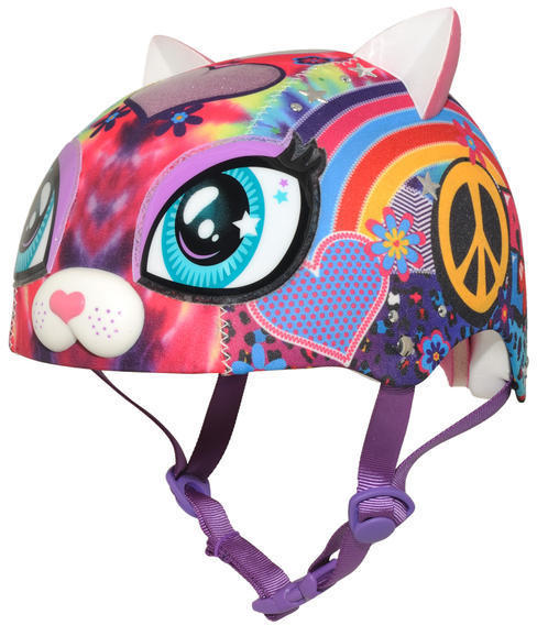 C-Preme Raskullz Peace Love Kitty Helmet Color: Pink