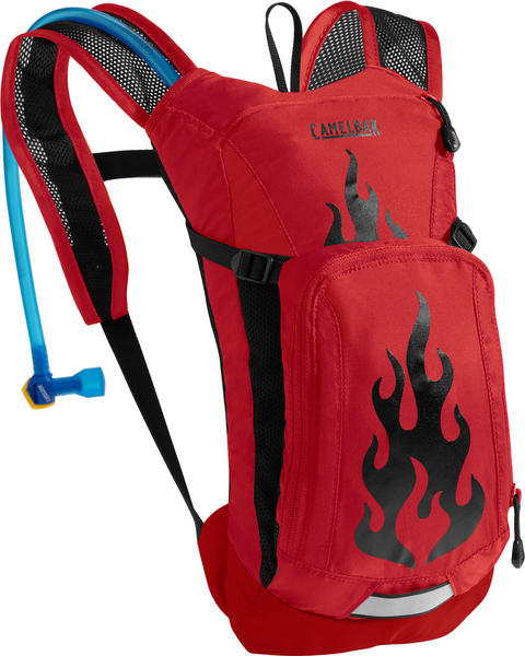 CamelBak Mini-M.U.L.E. - Kid's Color: Barbados Cherry Flames