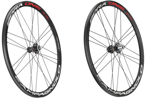 Campagnolo Bora One 35 Disc Brake Clincher Wheelset Campagnolo cassette compatibility shown