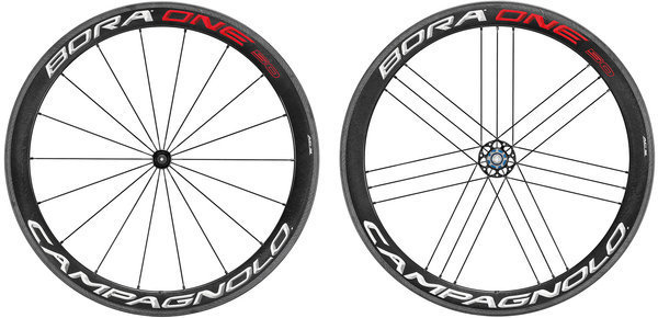 Campagnolo Bora One 50 Tubular Wheelset Clincher model and Campagnolo cassette compatibility shown