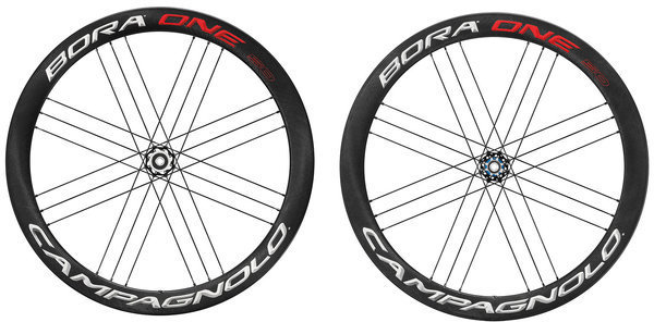 Campagnolo Bora One 50 Disc Brake Tubular Wheelset Campagnolo cassette compatibility shown