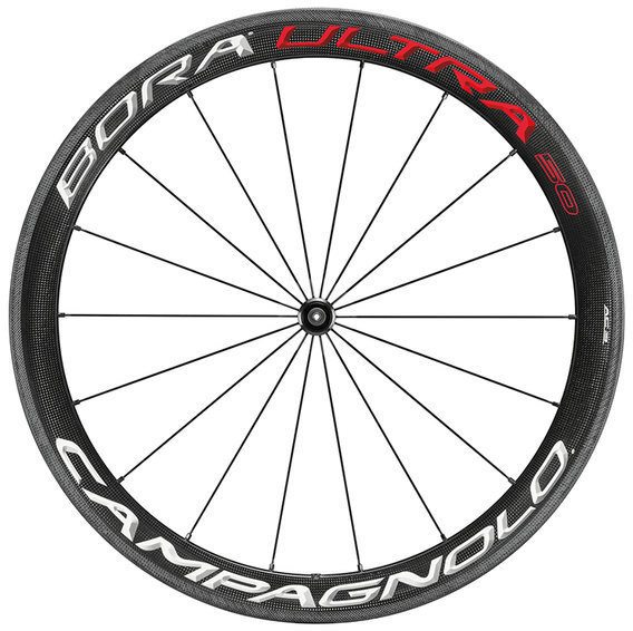 Campagnolo Bora Ultra 50 Tubular Front Wheel Clincher model shown