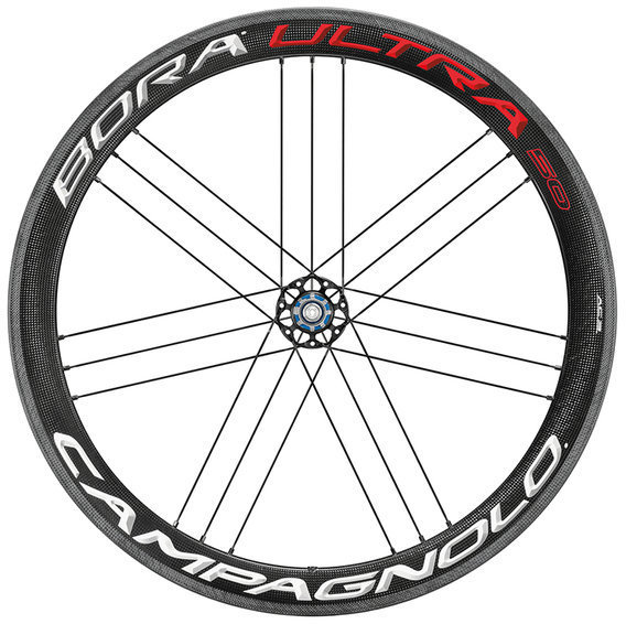 Campagnolo Bora Ultra 50 Clincher Rear Wheel Campagnolo cassette compatibility shown