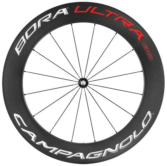 Campagnolo Bora Ultra 80 Pista Tubular Front Wheel Color: Bright Label