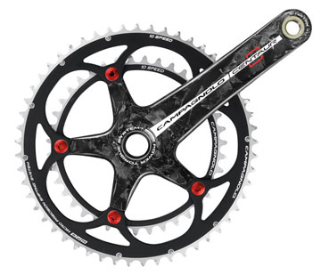 Campagnolo Centaur Carbon Power-Torque Crankset (53/39) Color: Black/Red