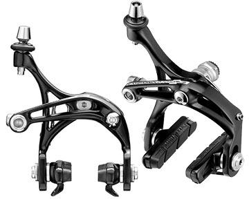 Campagnolo Chorus-D Skeleton Brake Calipers (Front: Dual-Pivot; Rear: Mono-Pivot)