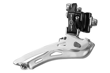 Campagnolo Veloce Braze-On Front Derailleur Color: Black
