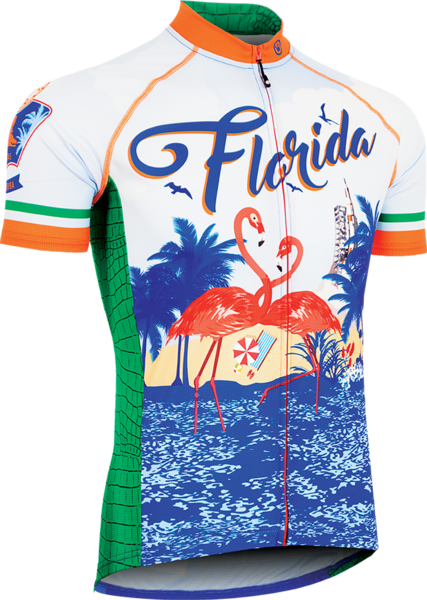 Canari Men's Florida Retro Jersey Color: Multi