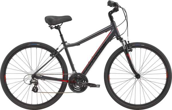 Cannondale Adventure 2 Color: Graphite w/Acid Red and Jet Black