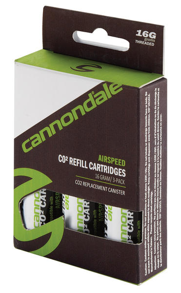 Cannondale Airspeed Premium 16gram CO2 Refill Cartridges (3-pack)