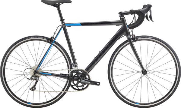 Cannondale CAAD Optimo Claris Color: Graphite w/Black Pearl and Electric Blue