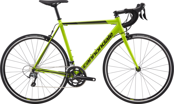 Cannondale CAAD Optimo Tiagra Color: Cannondale Green w/Jet Black and Vulcan