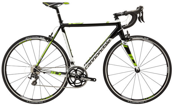 Cannondale CAAD10 105 5 Color: Jet Black w/ Berserker Green, Magnesium White