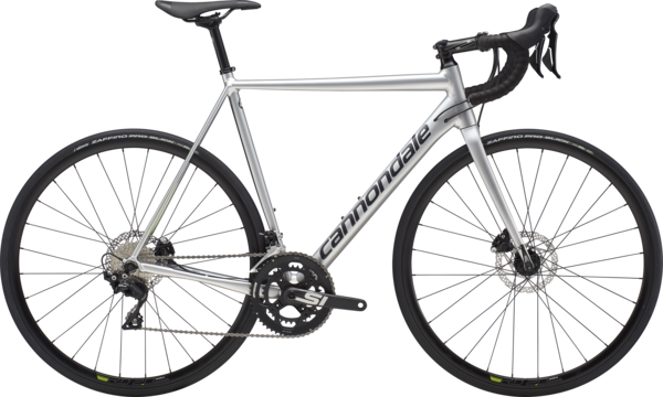 Cannondale CAAD12 Disc 105 Color: Fine Silver/Graphite/Acid Green