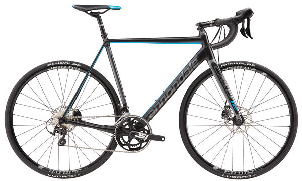 Cannondale CAAD12 Disc 105 Color: Matte Jet Black/Charcoal Gray/Gloss Ultra Blue