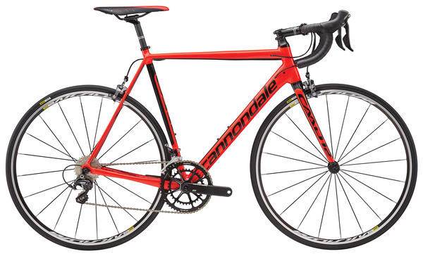 Cannondale CAAD12 Ultegra Color: Acid Red/Jet Black Gloss