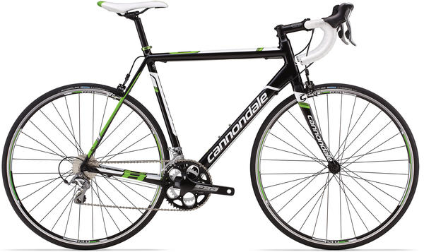 Cannondale CAAD8 Tiagra 6 Color: Jet Black w/ White and Green