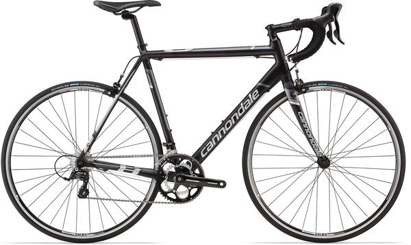 Cannondale CAAD8 Sora 7 Color: Jet Black w/Charcoal Gray