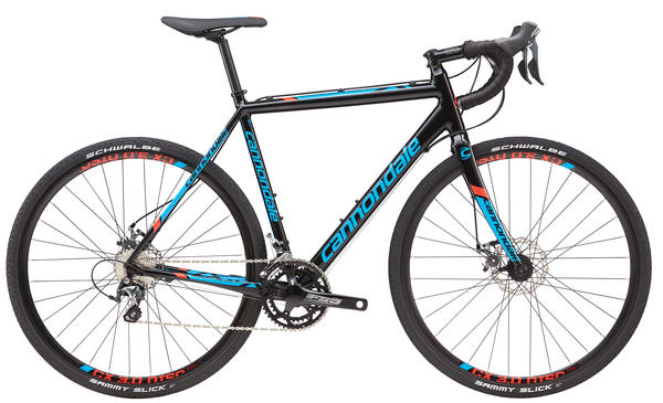 Cannondale CAADX Tiagra Color: Jet Black/Ultra Blue/Acid Red/Nearly Black Gloss