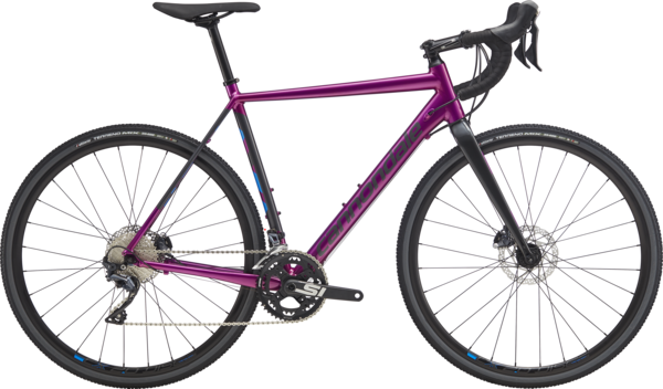 Cannondale CAADX Ultegra Color: Deep Purple w/Graphite and Electric Blue