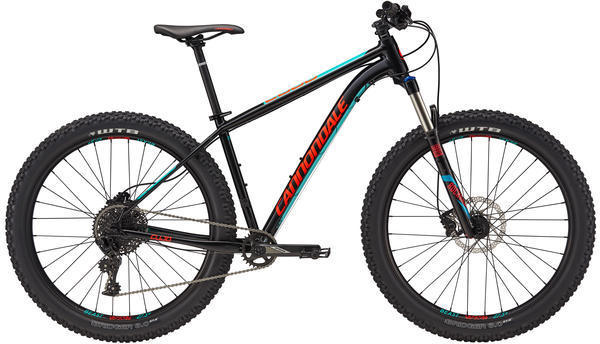 Cannondale Cujo 1 Color: Jet Black/Turquoise/Acid Red