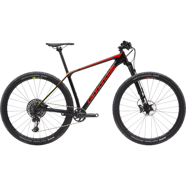 Cannondale F-Si Carbon 2 (l9) Color: Black Pearl with Acid Red/Tangerine/Volt