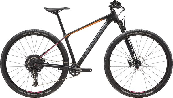 Cannondale F-Si Carbon Women's 2 Color: Black Pearl w/ Tangerine and Acid Strawberry