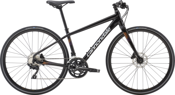 Cannondale Quick Women's 1 Color: Black Pearl w/Tangerine and Deep Purple