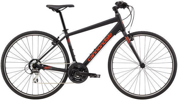 Cannondale Quick 8 Color: Jet Black/Acid Red/Charcoal Grey Reflective Matte