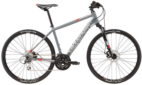 Cannondale Quick CX 4 Color: Stealth Gray/Primer Gray/Acid Red