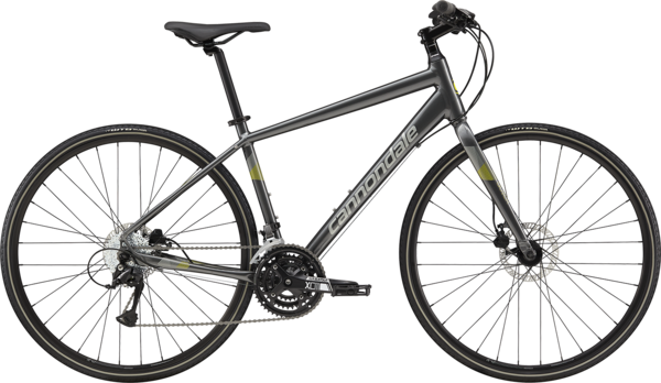 Cannondale Quick Disc 5 Color: Charcoal w/Sage Gray and Hot Yellow