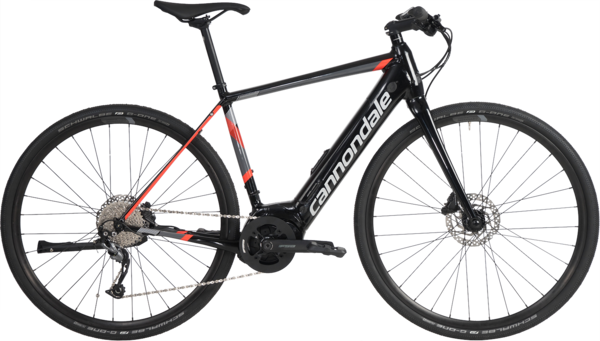 Cannondale Quick NEO (l9) Color: Jet Black with Acid Red/Charcoal Gray/Fine Silver