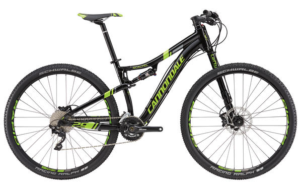 Cannondale Scalpel 29 4 Color: Jet Black w/ Berzerker Green