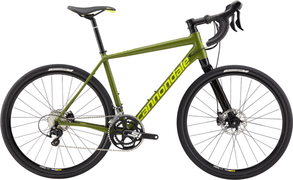 Cannondale Slate 105 (k5) Color: Army Green w/Neon Spring