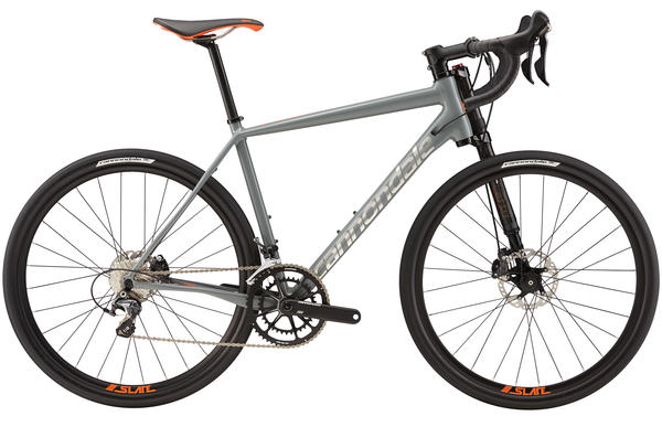 Cannondale Slate Ultegra Color: Stealth Gray/Acid Orange/Brushed Silver Gloss
