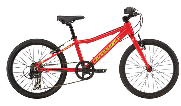 Cannondale Street 20 Color: Race Red/Jet Black/Neon Spring