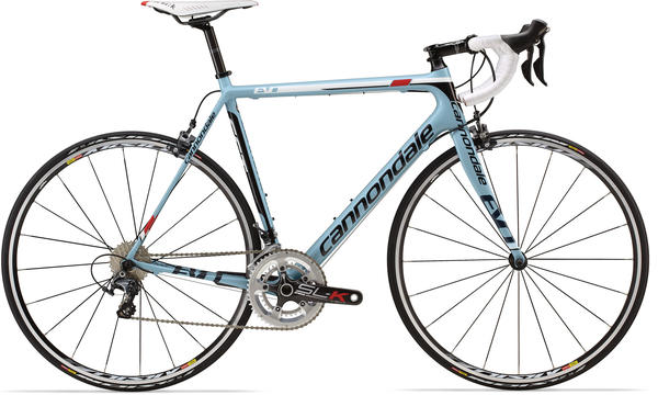 Cannondale SuperSix EVO 3 Ultegra C Color: 40 Blue w/ Black, Blue, and Red