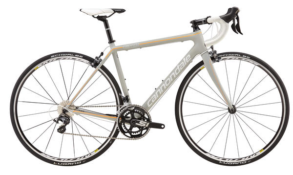 Cannondale SuperSix EVO Ultegra 4 - Women's Color: Gray/Acid Orange/Magnesium White/Nearly Black