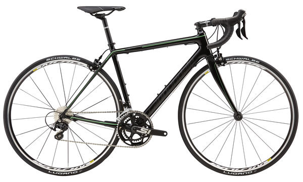 Cannondale SuperSix EVO 105 5 - Women's Color: Jet Black/Berserker Green/Nearly Black Gloss